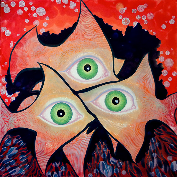 Trinity & Triage painting by Deanna Quijada ©2014